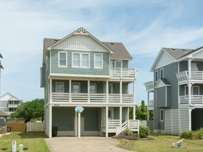 Photo for Sandy Bottoms: Oceanside, pet friendly with a private pool, hot tub and rec room.