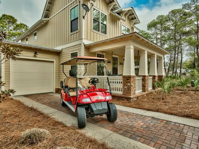 Photo for Custom Lakefront Beautiful Home,6 Seater Golf Cart! Walk to beach and pool