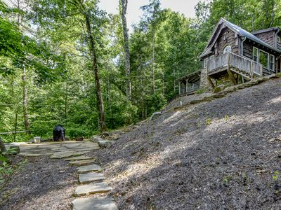 """Photo for Super clean """"Tiny Home Cottage"""" with WiFi, FREE POOL ACCESS, outdoor fire pit."""