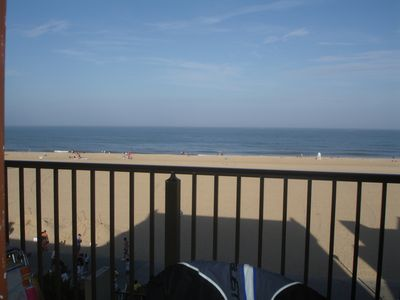 Photo for 8/5-12 Summer Rental Direct Oceanfront Efficiency On 1st St. and The Boardwalk