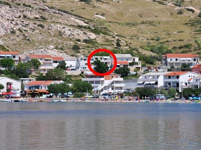 Photo for Apartment in Metajna (Pag), capacity 6+2