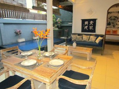 Photo for Seminyak Beach, Center location, walk to beach, cafes, shops, all else