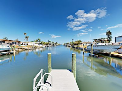 Dock - Enjoy fishing and boating from your private dock on the canal.