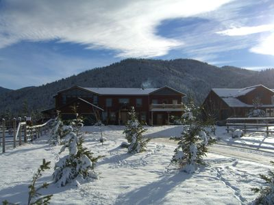 Photo for Large, Fully Equipped, Private & Cozy Montana Vibe W/Fireplace, Hot Tub & Hiking