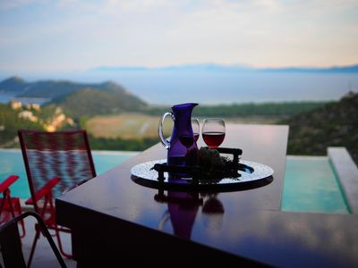 Photo for Relax at RED GREY SEAVIEW VILLA, with Private Pool, Schinias, Marathon, Attiki