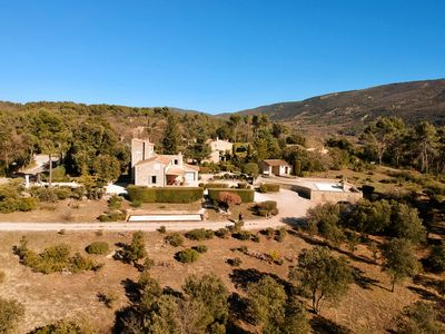 Photo for Traditional stone house with pool and garden between Lacoste and Menerbes