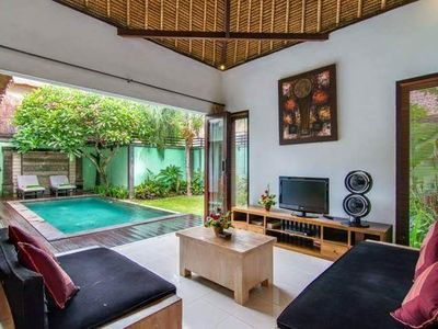 Photo for 2 Bedroom Pool Villa, Shops, Central Seminyak, Housekeeping Staff