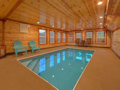 Photo for Private Indoor Pool and Theater Room Cabin