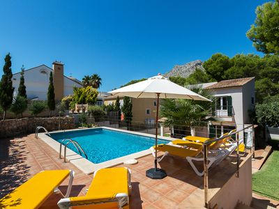 Photo for This 4-bedroom villa for up to 8 guests is located in Cala San Vicente and has a private swimming po