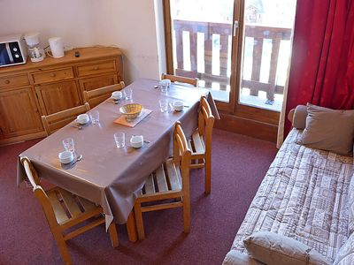 Photo for One bedroom Apartment, sleeps 6 in Val Thorens with WiFi