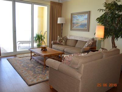 Photo for Open June 27 Last Minute Special! Large Balcony! Beach Service Included!
