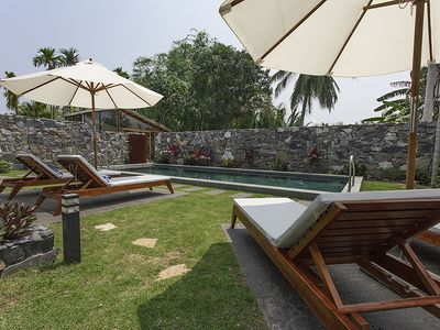 Photo for Balinese style private pool Villa