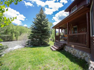 Photo for Home Nestled On River W/Hot Tub, Fire Pit & Dog Friendly!