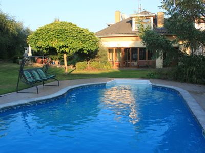 Photo for Apple Tree Villa with Heated Swimming Pool is 13 minutes by bus from Prague Metr