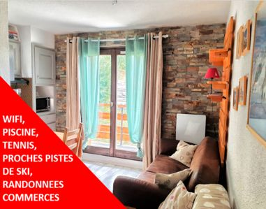 Photo for CHARMING APARTMENT T2 WITH SWIMMING POOL, TENNIS & VIEW ON THE MAGNIFICENT MONT BLANC