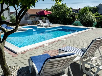 Photo for Vacation house near sea & beaches with HEATED POOL & BBQ