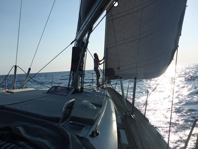 Photo for Family holiday on an exclusive 45 feet crewed sailboat