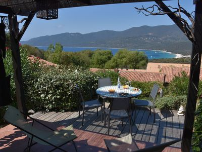 Photo for Mini-villa, beautiful sea view - heated pool - residence *** Serra Di Ferro