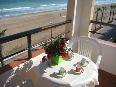 Photo for Peñíscola First Line Beach Rental WiFi Air Conditioning Parking 4th floor