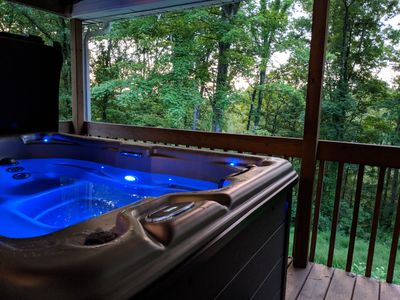 Brand New Hot tub with Waterfall