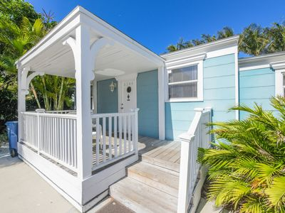 Photo for Wonderful location one house back from the beach. Sleeps 6.  Private pool.