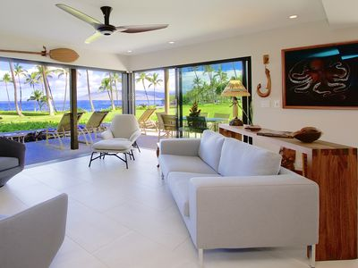 Photo for Luxury Oceanfront Wailea Elua Expansive Views Steps to the Beach!