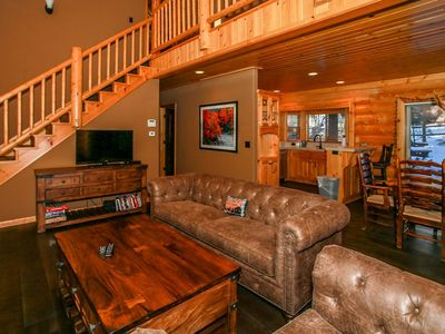 Photo for *CENTRAL MODERN LOG CABIN CHALET~Pool Table~