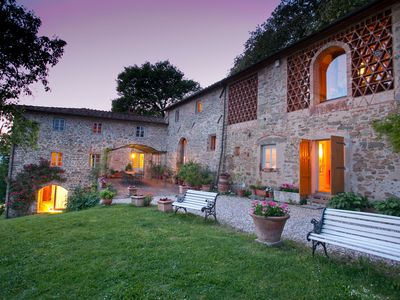 Photo for XII century villa on the hills above Lucca with chef,cooking lesson,wine tastin