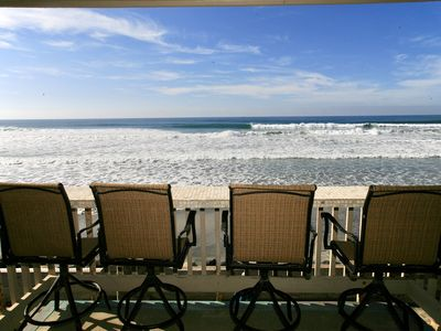 Photo for REMODELED BEACHFRONT COTTAGE! Stunning Ocean Views Throughout Condo.  Upper level D18 - Bradley Beachfront