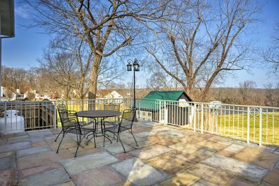 The property is perched along the banks of the Cumberland River.