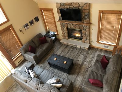 Camelback ski house with 2 living spaces & game room