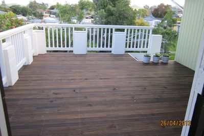 Large back deck