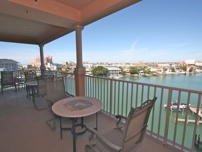 Photo for Pet Friendly Waterfront with boat slip,  W/D, big balcony, garage, pool, hot tub-603 Harborview
