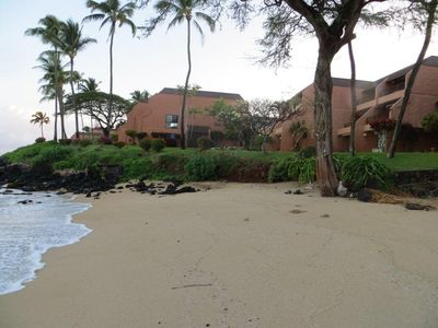 View of our building from Kuleana south beach with 702 30 feet from the sand