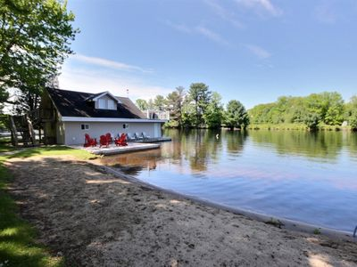 Photo for 3 Bed 1.5 Bath with Boathouse on the Muskoka River