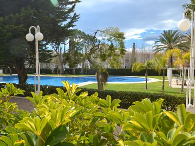 Photo for Mimosa Salou:Ground floor with direct access Pool-Free wifi+AC-300m beach & centre Salou