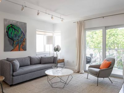 Photo for New Modern 2BED 2BATH Condo with Balcony/ Free Parking in upscale SOFI area