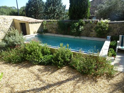 Photo for Superb comfortable farmhouse in a small village on the outskirts of Uzès