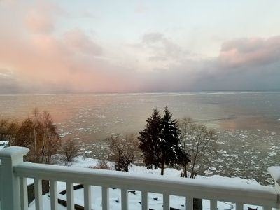 Winter is beautiful! 3rd floor deck and master view