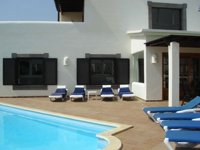 Photo for Large Detached Villa with Own Private Heated Pool and 7 seat Hot Tub Jacuzzi Spa