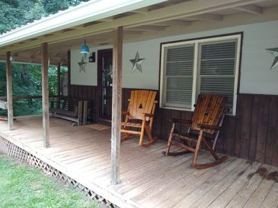 Photo for Rocking Chairs, Fire Pits, Swings, Walking and biking trails.