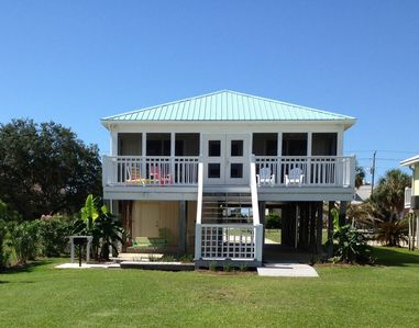 Photo for Waterfront on Little Lagoon! Walk to the beach! Beach house with private pier!