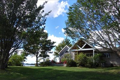 Spacious and beautifully appointed home on 6 acres of waterfront property