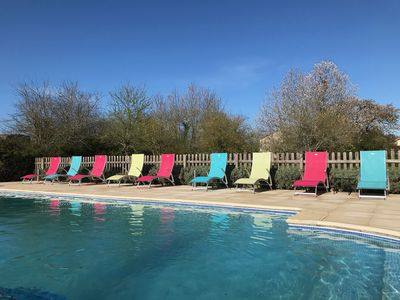 Photo for Tournesol-Four bedroom cottage in a peaceful location with a heated pool