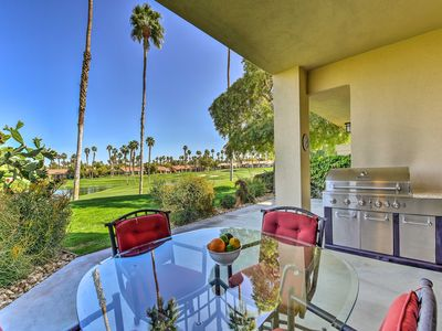 Photo for Private Palm Desert Townhome w/Pool On Golf Course