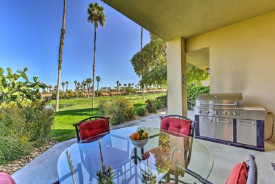 Experience the desert oasis of Palm Desert at this 3-BR, 3.5-BA vacation rental.