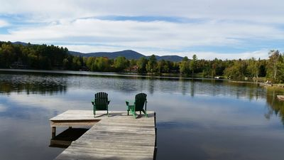 Photo for Mirror Lake Waterfront with Mountain and Lake Views, Sleeps 10.