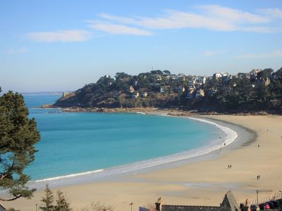 Photo for Beautiful Sunny Apartment, Sea View, Direct access to the beach on foot.  Wireless