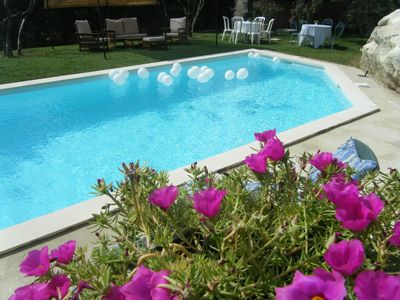 Photo for QUIET VILLA ON THE HILL NEAR THE CAMARGUE SOUTH OF FRANCE