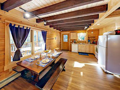 Dining Room - Welcome to Spruce Cabin! This brand-new gem is professionally managed by TurnKey Vacation Rentals.